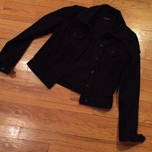 Ranbeeri black jean jacket tears/rips & some aging